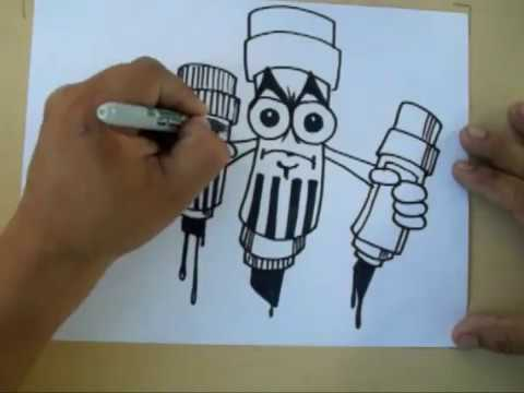 How to Draw a graffiti  Character  (Pilot Marker) BY WIZARD 2012
