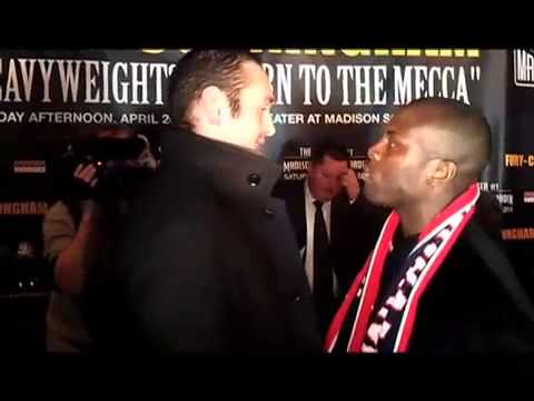 Tyson Fury Heated Faceoff With Steve Cunningham
