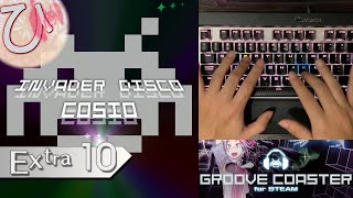Invader Disco (EXTRA) PERFECT 【GROOVE COASTER on Steam 手元動画】