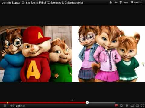 On the floor ft. Pitbull (Chipmunks & Chipettes style)