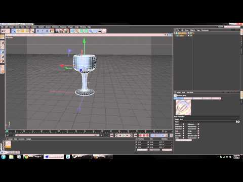 Cinema 4D Wine Glass Modeling and Glass Texture Tutorial