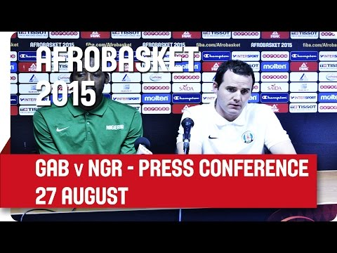 Gabon v Nigeria - Post-Game Press Conference - AfroBasket 2015