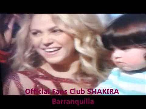 Shakira, Milan y Gerard Piqué en la Clausura del mundial Brasil 2014