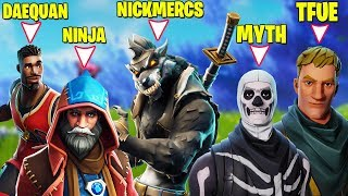 STREAMERS HAVING 1V1 IN PUBLIC LOBBY! *BOTH POVS* (Ninja, Tfue, Myth, Daequan, Cloakzy, Hamlinz etc)