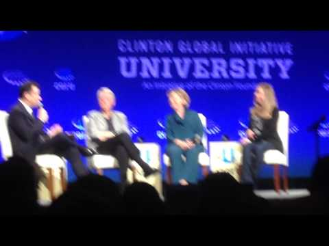 Clinton Global Initiative University 2014 - Jimmy Kimmel talks with Clintons