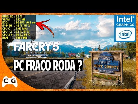 Far Cry 5 Gameplay Teste Intel HD Graphics Roda em PC Fraco ? #471