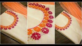 Hand Embroidery French Knot For Kurta/Kurti/Chudidar Easy To Make (DIY)