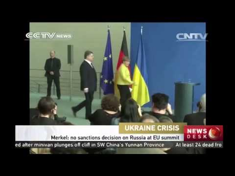 Merkel: no sanctions decision on Russia at EU summit