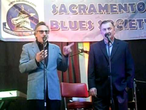 Rick Estrin&Little Charlie Baty at the 2010 Sacramento Blues Society Blues Hall of Fame Ceremony