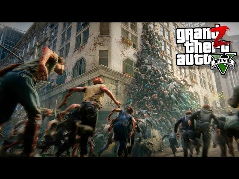GTA 5 Зомби Апокалипсис - МЕРТВЫЙ ГОРОД И ТОЛПЫ ЗОМБИ ГТА 5 МОДЫ 19! GTA 5 МОДЫ ОБЗОР МОДОВ