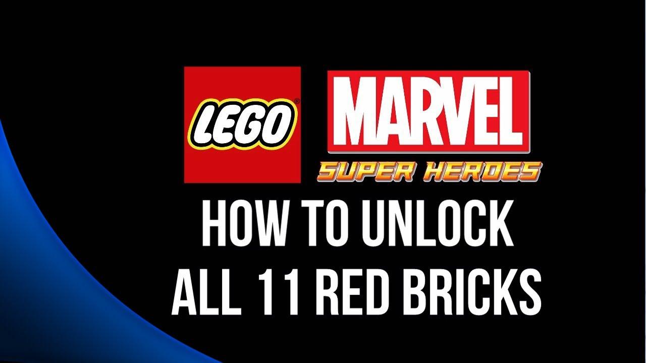 All 11 deadpool red bricks guide lego marvel super heroes youtube