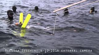 ALESSIA ZECCHINI -  Record Mondiale di Apnea in Assetto Costante con Attrezzi (Monopinna) -86 m