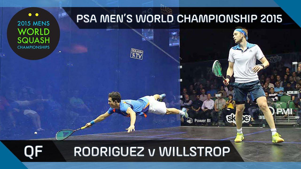 Squash: 2015 PSA Men's World Championship QF Highlights: Rodriguez v Willstrop