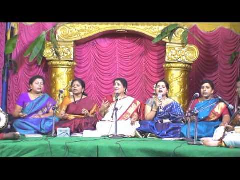 Dr.Nagavalli Nagaraj & her disciples sing a Sanskrit devotional...
