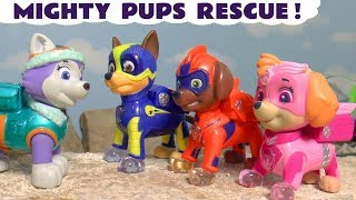 Paw Patrol Mighty Pups Rescue with Thomas The Train and Wizard Funling TT4U