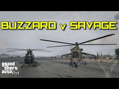 BUZZARD V SAVAGE   (GTA 5)