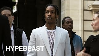 A$AP Rocky, Kid Cudi, KAWS at Highly Anticipated Dior Show in Paris