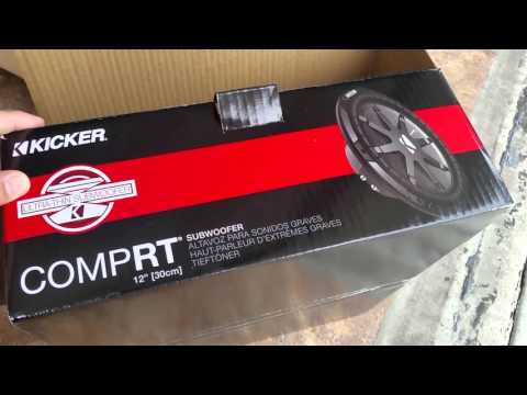Kicker CompRT 40cwrt122 Shallow 1000w Thin Subwoofer Unboxing 1080p HD