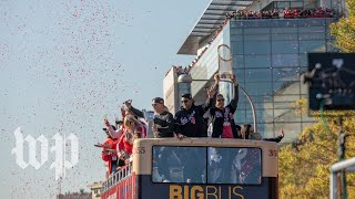 Ride the bus with Nats players in their World Series parade