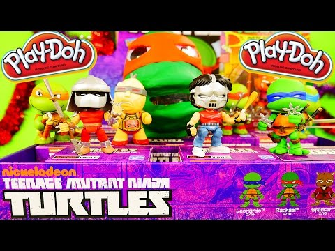 Play Doh Raphael Surprise Egg Teenage Mutant Ninja Turtles TMNT Loyal Subjects Full Case -1 Unboxing