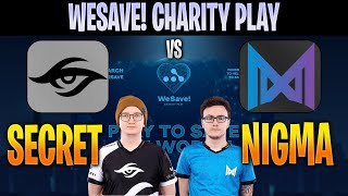 [ENG] Secret vs Nigma | Bo3 | EU WeSave! Charity Play | DOTA 2 LIVE CAST by @D2Bowie