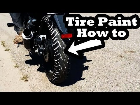 How to Motorcycle Tire Paint - Tire Penz