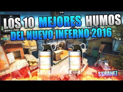 ? CS:GO - LOS 10 MEJORES HUMOS DEL NUEVO INFERNO 2016 | BEST 10 NEW INFERNO SMOKES