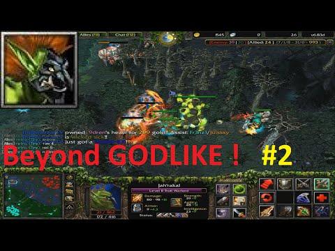 DotA 6.83d - Troll Warlord Beyond GODLIKE ! #2