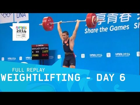 Weightlifting - Day 6 Group A Men's 85 kg | Full Replay | Nanjing 2014 Youth Olympic Games