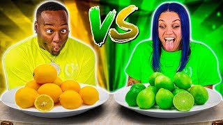 YELLOW FOOD VS GREEN FOOD CHALLENGE