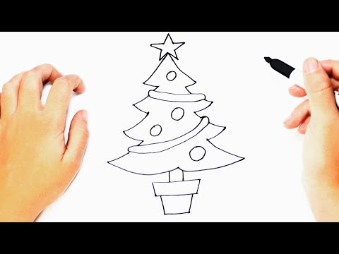 How to draw a Christmas Tree Step by Step | Christmas Drawings