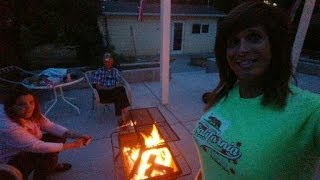 Birthday Fun...Firepit & Smores on the Back Deck