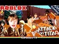 ATTACK ON TITAN IN ROBLOX DOWNFALL Let S Play Team Attack On Titans Gameplay KM Gaming S02E14 mp3