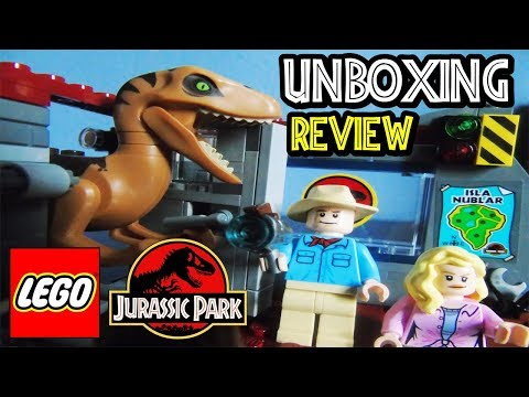 LEGO JURASSIC PARK VELOCIRAPTOR CHASE | Unboxing y Review Set Lego