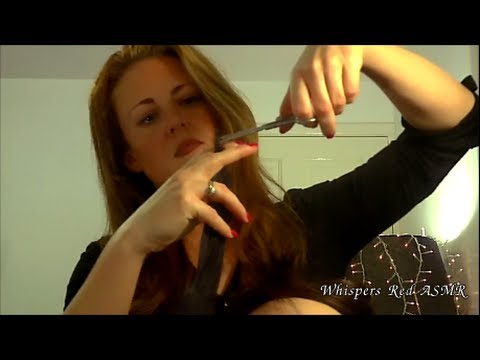 ASMR Haircut and Head Massage Role Play Part 1- Soft Spoken/Scissor & Hair Sounds