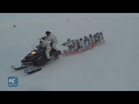 Chechen special forces in Arctic drills