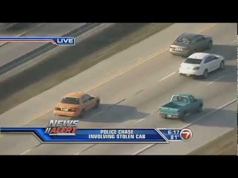 *WSVN Breaking News* Police Chase In Broward County 4/2/2013