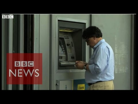 Millions withdrawn from Greece's ATMs - BBC News