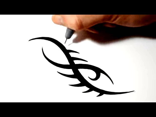 Drawing a Simple Tribal Tattoo Design