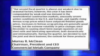 Earnings Report: Commercial Metals Company (NYSE: CMC) Reports Wider-Than-Expected Loss