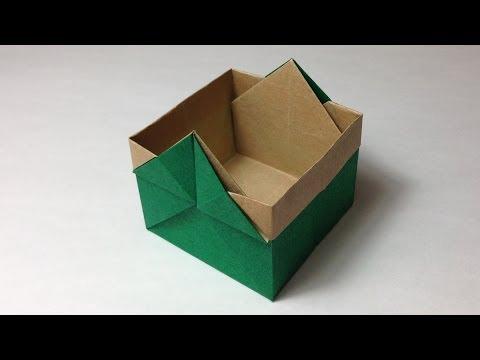 折り方 折り紙四角箱折り方 : ... 折り方 作り方 入れ物 実用