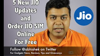 Hindi | 5 New JIO Updates, Order JIO SIM Online, JIO Broadband, JIO Apps Leaking Data and More