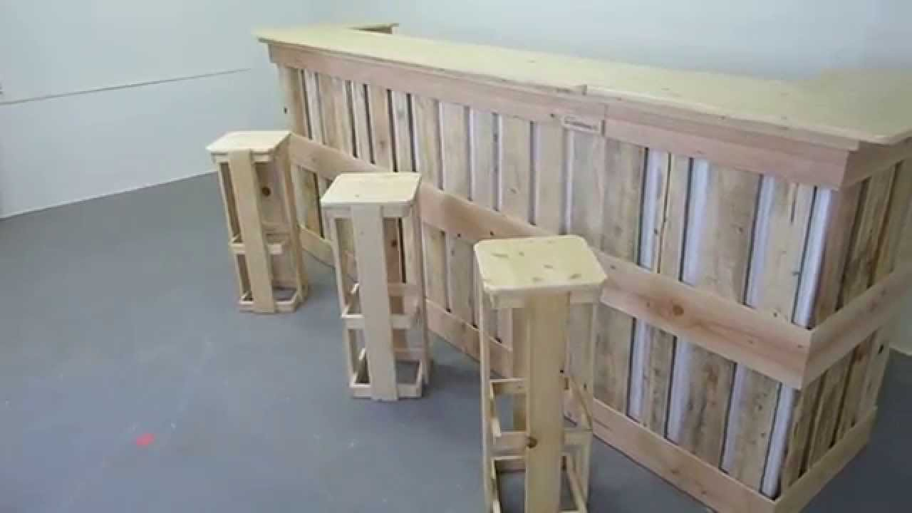 Comptoir made by mov youtube for Construire un bar exterieur en bois