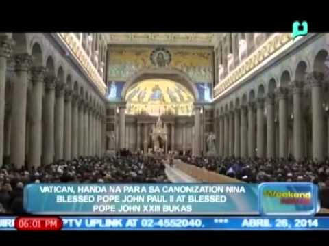 Vatican, handa na para sa Canonization nina Blessed Pope John Paul II at Blessed Pope John XXIII