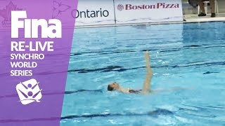 RE-LIVE | Solo Tech - Toronto | FINA Synchronised Swimming World Series 2017
