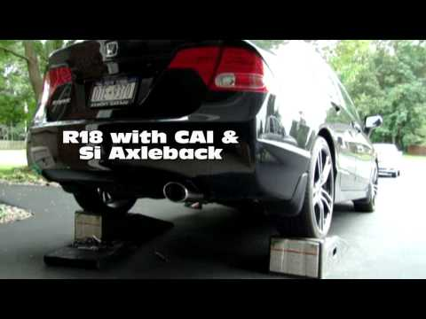Civic Lx R18 with Si Axleback - Sound test