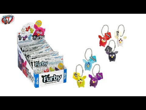 Furby Figure Charms Blind Bag Toy Review. Gacha Tomy