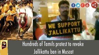 Hundreds of Tamils protest to revoke Jallikattu ban in Muscat