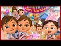 Twin Happy Birthday Song Party First Day Of School   Banana Cartoon [HD]