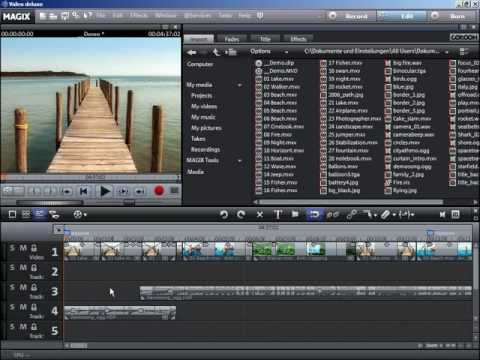 Tutorial: MAGIX Movie Edit Pro 15 - How to use the scene overview and editing